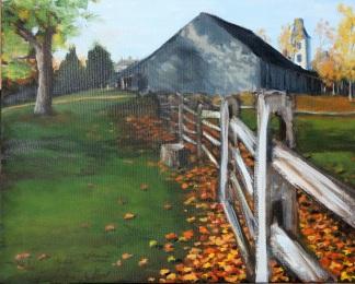 Batsto Barn, Autumn