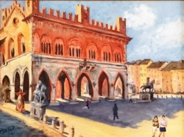 The Piazza in Piacenza, Italy - Private Collection