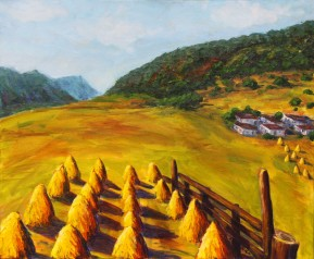 Haystacks in Yunnan