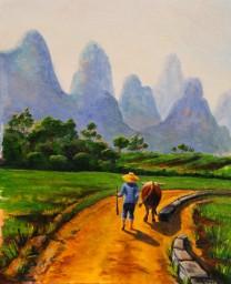 Early Morning, Yunnan - SOLD