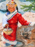 Yunnan Bread Girl - Giclees available