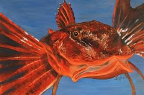 "Fishermen's Bane, Oil on Canvas, 18 x 36"", 2017"