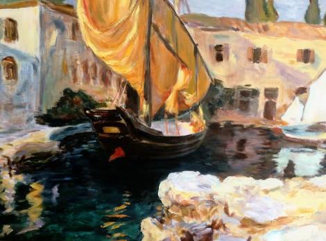 Venice-Golden Sails apres John Singer Sargent, 20 x 24, oil on canvas