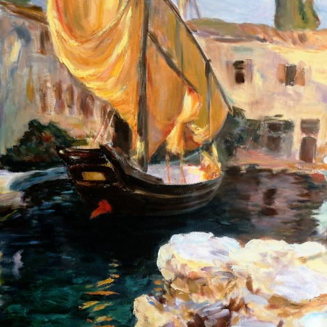 Venice-Golden Sails apres John Singer Sargent, 20 x 24, oil on canvas