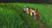 Emerald Path, oil on canvas, 12 x 18
