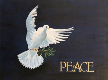 Dove of Peace, oil on canvas, 14 x 18