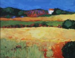 Fields with Lavender, apres JeanClaude Allenbach, oil on canvas
