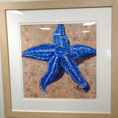 "Star Bright, Acrylic, 20 x 20"", available"