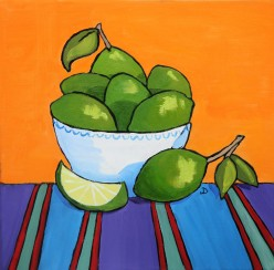 SOLD Fiesta Limes 12 x 12 Oil