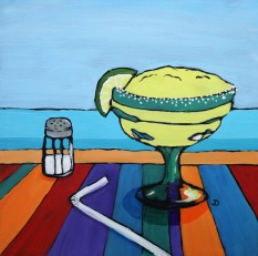 SOLD Margarita 12 x 12 Oil Framed $150