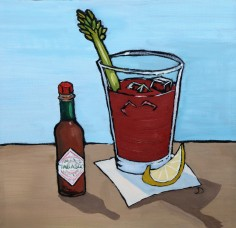 Bloody Mary 12 x 12 Oil Framed $150