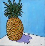 Pineapple 12 x 12 Oil $150 Framed