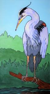 Heron, 15 x 30 Acrylic $265