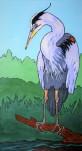 Heron, 15 x 30 Acrylic $325