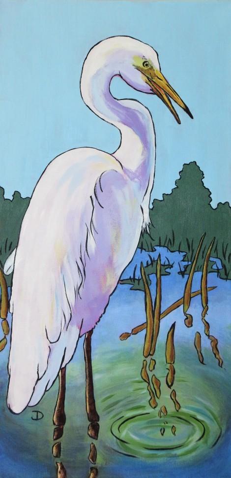 Egret 15 x 30 Acrylic $325