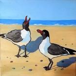 SOLD Laughing Gulls 12 x 12 Acrylic