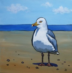 SOLD Herring Gull 12 x 12 Acrylic $150