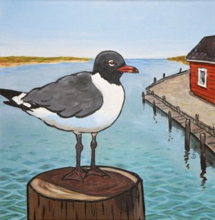 SOLD Laughing Gull on Pilng