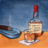 Maker's Mark 12 x 12 Acrylic $150
