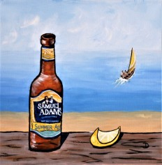 Sam Adams' Summer 12 x 12 Acrylic $125