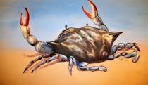 """Feeling Crabby, Oil on Canvas, 24 x 48"""""""
