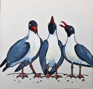 The 3 Tenors 12 x 12 Acrylic $1
