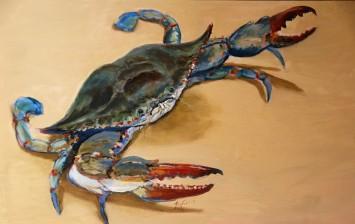 Blue Crab 24 x 36 Acrylic $600