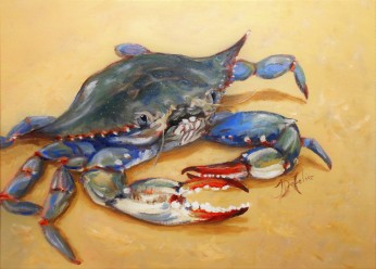SOLD - Blue Crab I, Oil, 16 x 20 Prints available