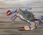 Blue Crab II, Oil, 16 x 20 $360